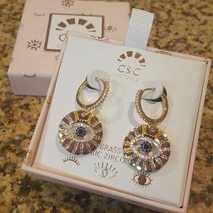 C&C California seeing earrings new in box
